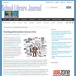 Teaching Information Literacy Now