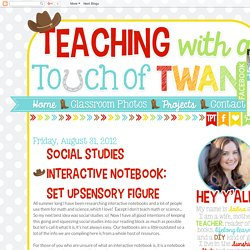 Social Studies Interactive Notebook: Set Up/Sensory Figure