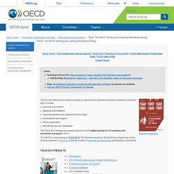 TALIS - The OECD Teaching and Learning International Survey