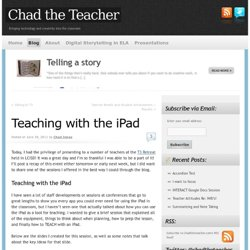 Teaching with the iPad | Chad the Teacher
