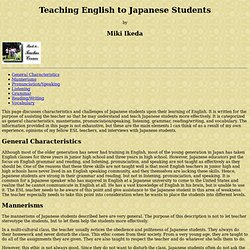Teaching English to Japanese Students