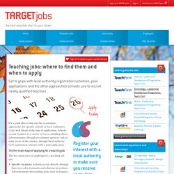 Teaching jobs: where to find them and when to apply
