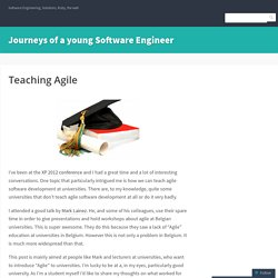 Journeys of a young Software Engineer