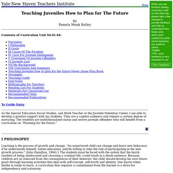 94.01.04: Teaching Juveniles How to Plan for The Future
