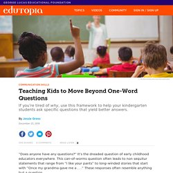Teaching Kids to Move Beyond One-Word Questions