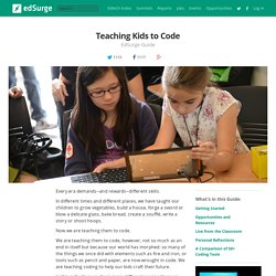 Teaching Kids to Code