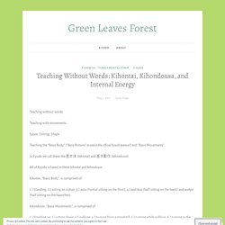 Teaching Without Words: Kihontai, Kihondousa, and Internal Energy – Green Leaves Forest
