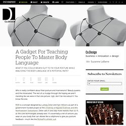 A Gadget For Teaching People To Master Body Language
