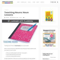 Teaching Nouns: Noun Lessons