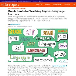 Do's & Don'ts for Teaching English-Language Learners