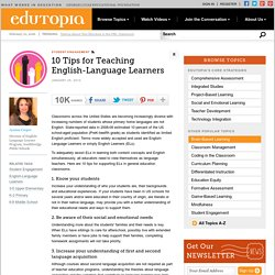 10 Tips for Teaching English-Language Learners