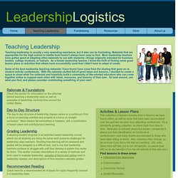 Teaching Leadership, leadership class, lesson plans, leadership