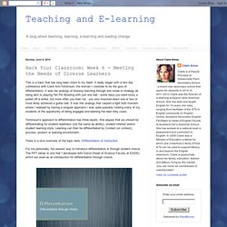 Hack Your Classroom: Week 6 - Meeting the Needs of Diverse Learners