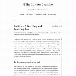 Twitter – A Teaching and Learning Tool