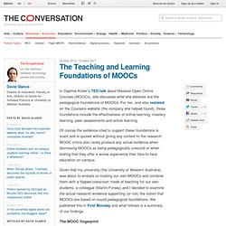 The Teaching and Learning Foundations of MOOCs