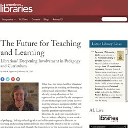The Future for Teaching and Learning