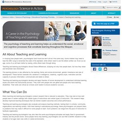 A Career in Teaching and Learning Psychology