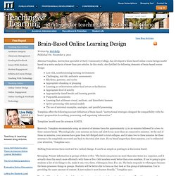Brain-Based Online Learning Design