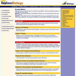 AP Biology Teaching & Learning Resources
