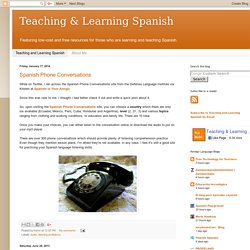 Teaching and Learning Spanish