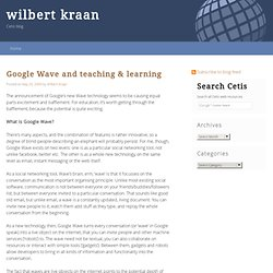 Google Wave and teaching