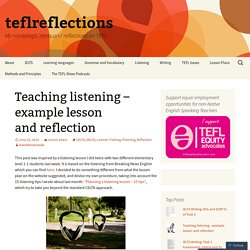 Teaching listening – example lesson and reflection