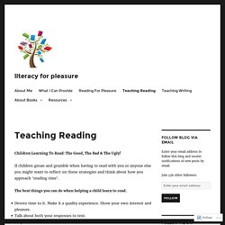 Teaching Reading – literacy for pleasure