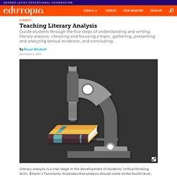 Teaching Literary Analysis