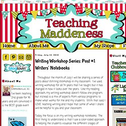 *Teaching Maddeness*: Writing Workshop Series: Post #1 Writers' Notebooks
