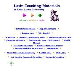 Latin Teaching Materials at Saint Louis University: Teach & Learn the Latin Language