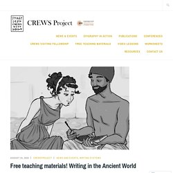 Free teaching materials! Writing in the Ancient World