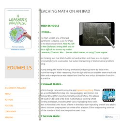Teaching Math on an iPad – EDUWELLS