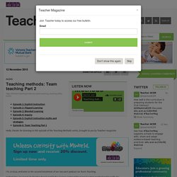 Teaching methods: Team teaching Part 2