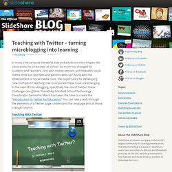 Teaching with Twitter – turning microblogging into learning