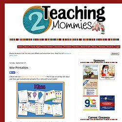 2 Teaching Mommies: Kite Printables