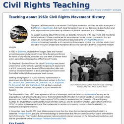 Teaching about 1963: Civil Rights Movement History