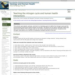Teaching the nitrogen cycle and human health interactions