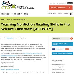 Teaching Nonfiction Reading Skills in the Science Classroom [ACTIVITY]