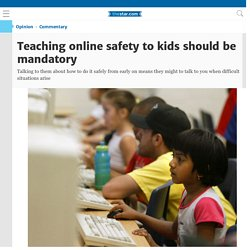 Teaching online safety to kids should be mandatory