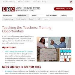 Teaching the Teachers: Training Opportunities