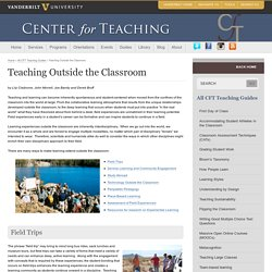 Teaching Outside the Classroom