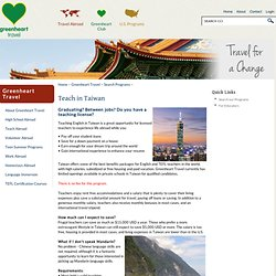 Teach English Abroad in Taiwan: Paid TEFL Teaching Overseas