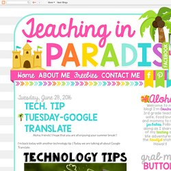 Teaching in Paradise: Tech. Tip Tuesday-Google Translate