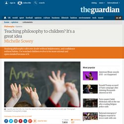 Teaching philosophy to children? It's a great idea