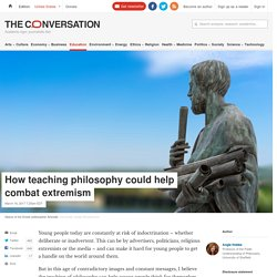 How teaching philosophy could help combat extremism