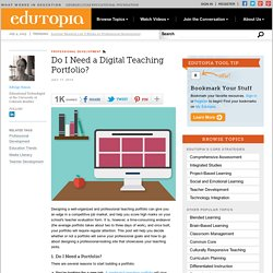 Do I Need a Digital Teaching Portfolio?