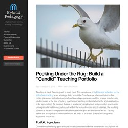 "Peeking Under the Rug: Build a ""Candid"" Teaching Portfolio"