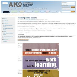 Teaching adults posters - Ako Aotearoa