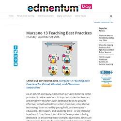 Marzano 13 Teaching Best Practices