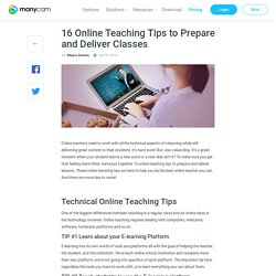 16 Online Teaching Tips to Prepare and Deliver Classes - ManyCam Blog ManyCam Blog